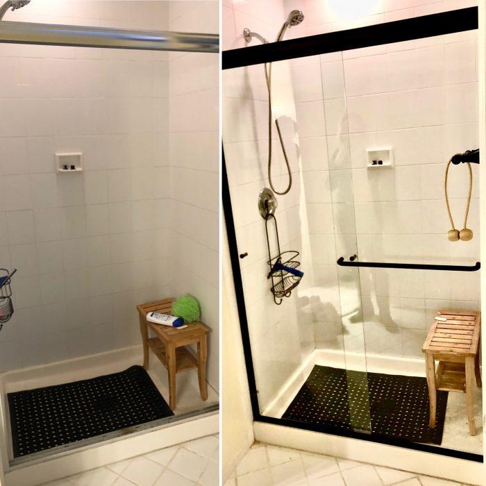Bath Door before/after